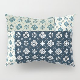 Vintage Tiles #society6 #pattern #indigo Pillow Sham