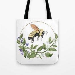 Bombus & Blueberries Tote Bag