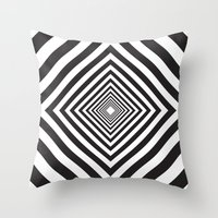 square Throw Pillows featuring Square by Vadeco