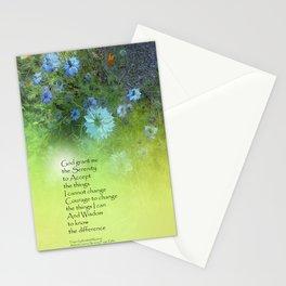 Serenity Prayer Bachelor's Buttons Stationery Cards