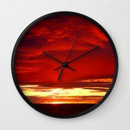 Devil sky Above Wall Clock