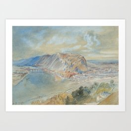 Joseph Mallord William Turner 1775–1851   Namur, on the Meuse, from the Liège Road Art Print
