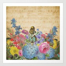 Wonderland Magical Garden - Alice In Wonderland Art Print
