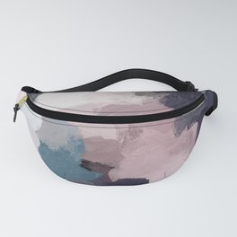 Teal Indigo Lavender Abstract Wall Art, Feminine Painting Print, Modern Wall Art Fanny Pack