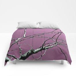 Reaching Violet Comforters