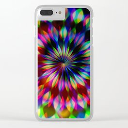 Psychedelic Rainbow Swirl Clear iPhone Case