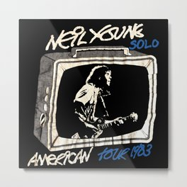 neil young solo 1983 Metal Print