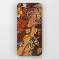 charmaine iPhone & iPod Skins featuring Queen Bee by Charmaine D'Silva