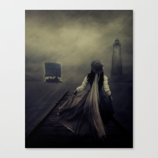 After the long waiting Canvas Print