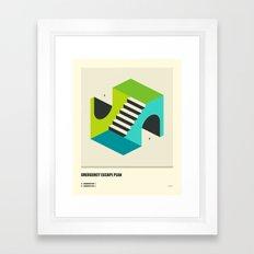 EMERGENCY ESCAPE PLAN (4) Framed Art Print