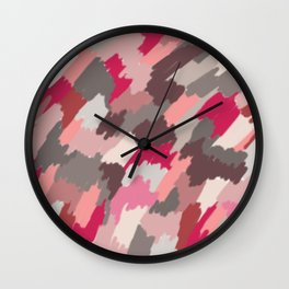 pink patches Wall Clock