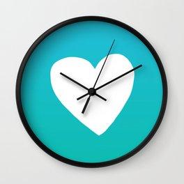 Mermaid Heart Wall Clock