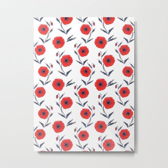 Summer Poppies Metal Print