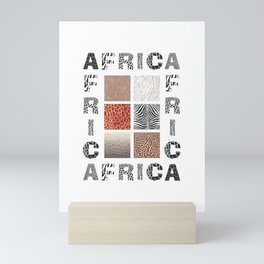Africa - background with text and texture wild animal Mini Art Print