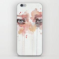 Missing you, watercolor eye study iPhone Skin
