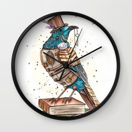 Steampunked Tui Wall Clock