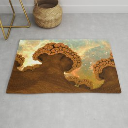 Broccoli Planet in Fall Rug