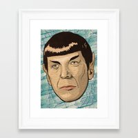 spock Framed Art Prints featuring Spock by Mimi