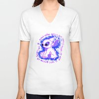 ohana V-neck T-shirts featuring Ohana Means Family by Christina