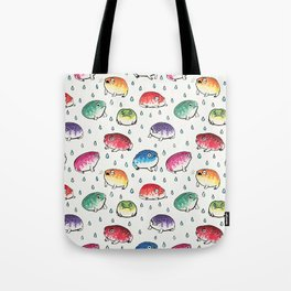Round Rain Frogs Tote Bag