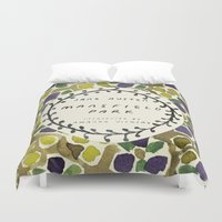 jane austen Duvet Covers featuring Remember Jane Austen (2) - Mansfield Park by MW. [by Mathius Wilder]