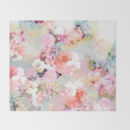 Love of a Flower Throw Blanket