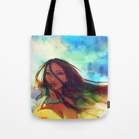 eyes Tote Bags featuring The Wind... by Alice X. Zhang