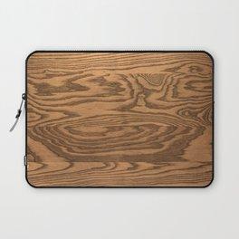 Wood 5, heavily grained wood Horizontal grain Laptop Sleeve