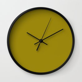 Dark Yellow - solid color Wall Clock