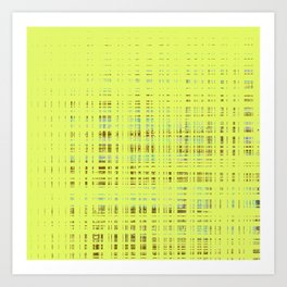 c4e414a01d82 Multi-color squares on yellow background Art Print