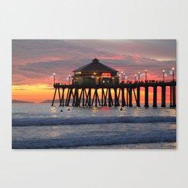 Winter Time Sunset  Canvas Print