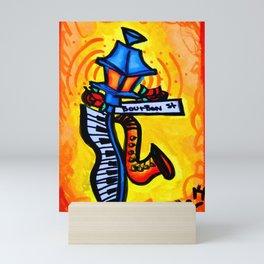 Bourbon St. Music post Mini Art Print