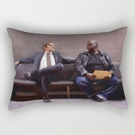 Jimmy McGill And Huell Babineaux From Breaking Bad And Better Call Saul Rectangular Pillow