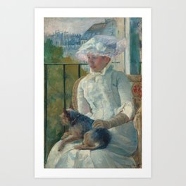 Young Girl at a Window Oil Painting by Mary Stevenson Cassatt Art Print