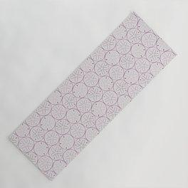 Sanddollar Pattern in Purple Yoga Mat