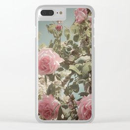 English Rose Clear iPhone Case