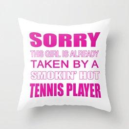 Taken By A Tennis Player Throw Pillow