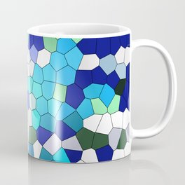 Green blue Turquoise Mosaik Coffee Mug