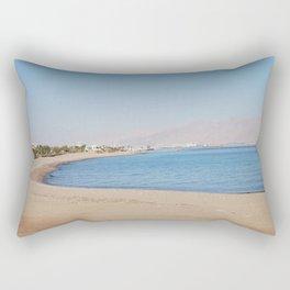 Red Beach Rectangular Pillow