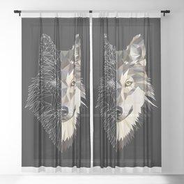 Mixed Wolf Sheer Curtain