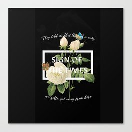 Harry Styles Sign Of The Times graphic design Canvas Print