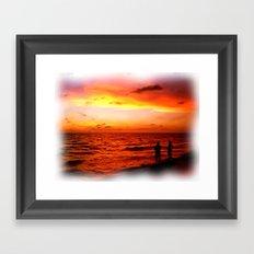Sunset at Marco Island  Framed Art Print