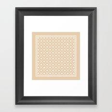 Never Far Away (colors: warm vanilla) Framed Art Print