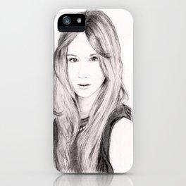 Female face 3 iPhone Case