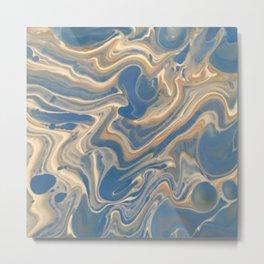 Blue swirl 308908 Metal Print