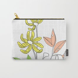 Bush Flowers Carry-All Pouch