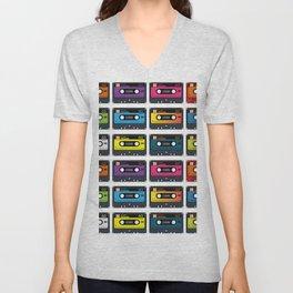 Vintage audio tape Unisex V-Neck