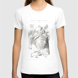 Human Anatomy Art Print BELLY BUTTON SKINNED Vintage Anatomy, doctor medical art, Antique Book Plate T-shirt