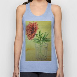 flower in a glass . illustration  ( https://society6.com/totalflora/collection ) Unisex Tank Top