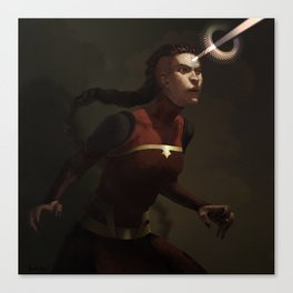combustion woman Canvas Print